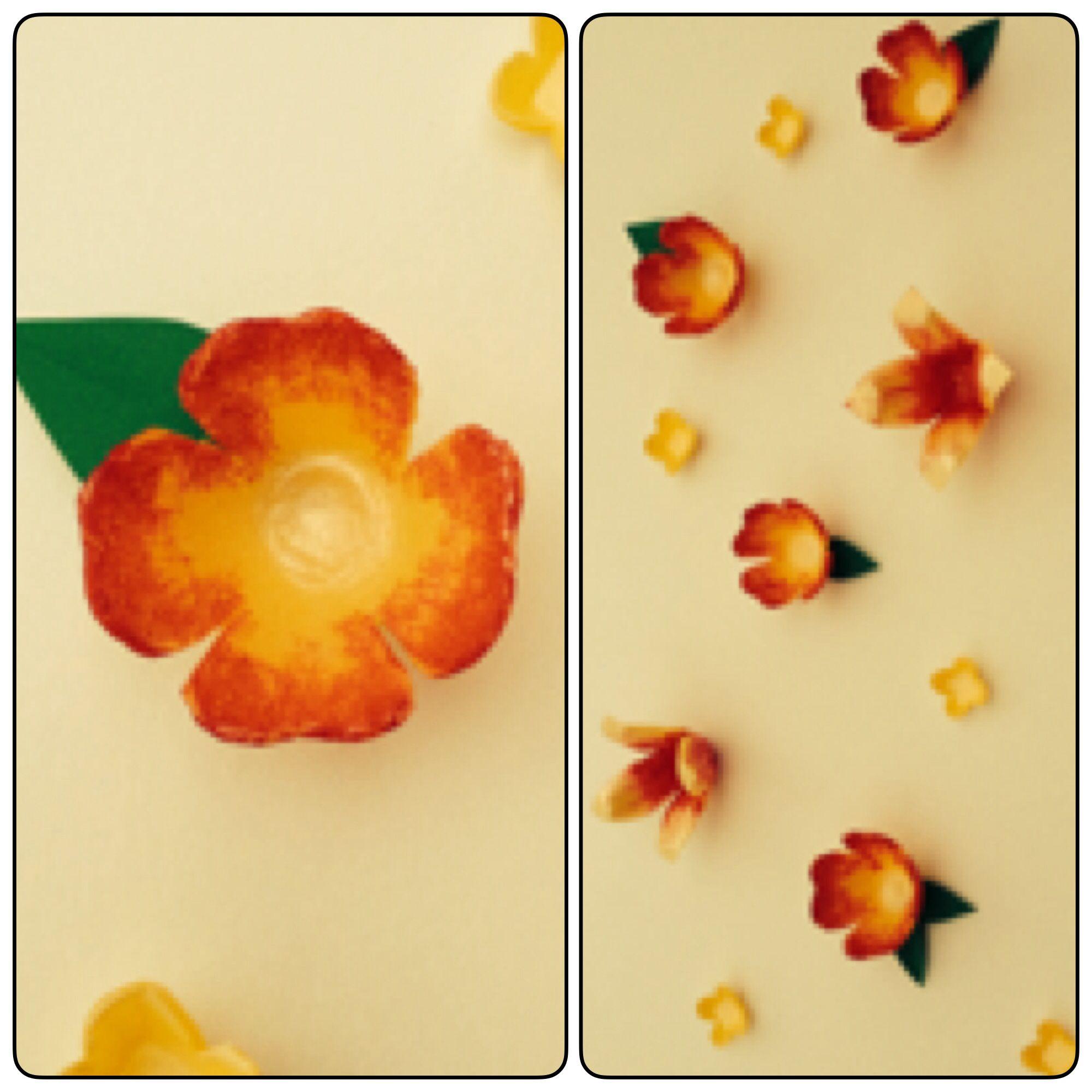 Styrofoam Egg Carton Flower Art Cut Out Flowers And Added