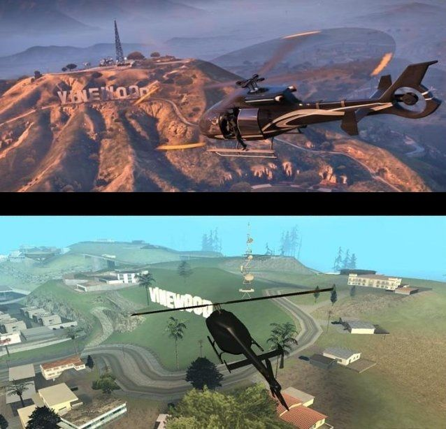 Gta San Andreas Vs Gta V San Reas Gta Grand Theft Auto