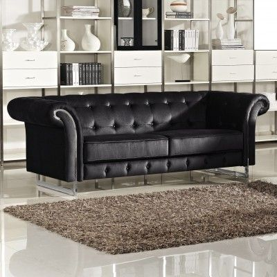 Porta Velvet Sofa Usa Furniture Meridian Furniture Furniture