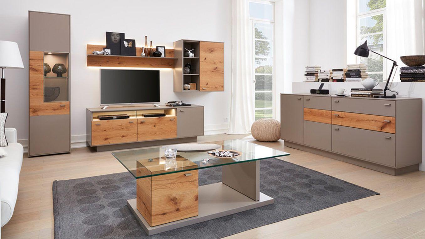 zeitlos elegant die wohnwand aus der interliving wohnzimmer serie 2101 kreative materialkombinationen und praktisch