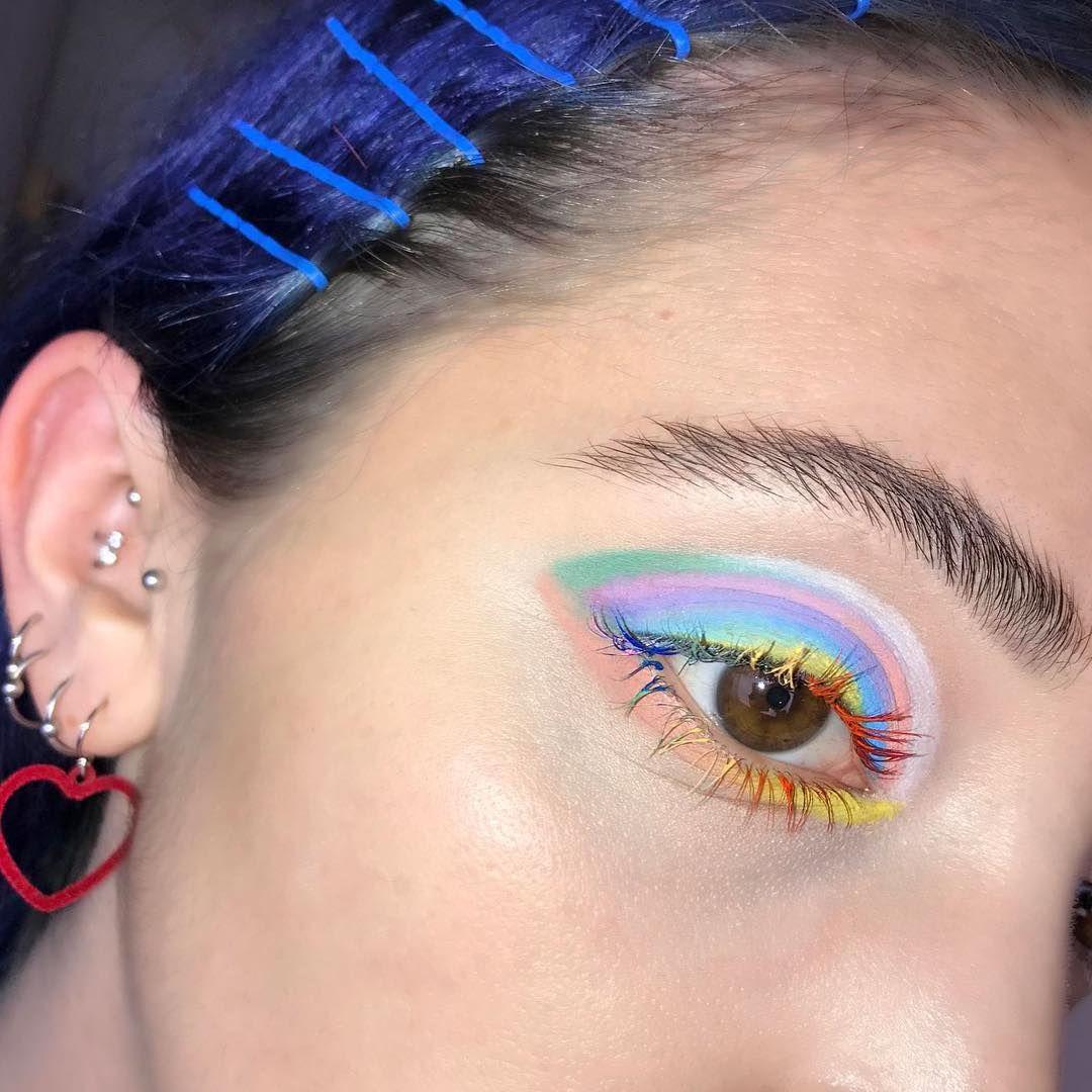 Eye am a weirdo! Used katvondbeauty pastel goth palette