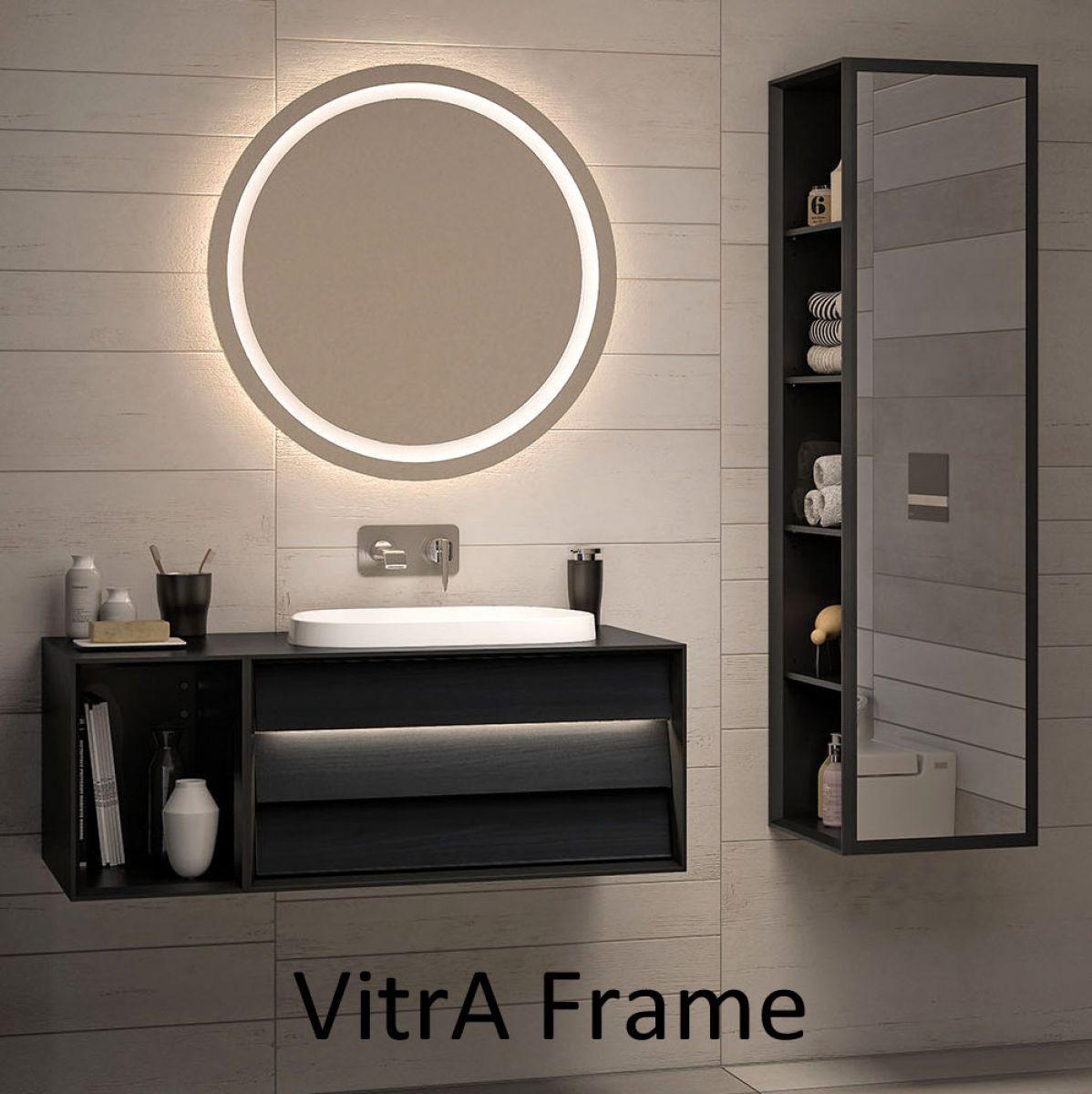 Vitra Frame Large 80cm Round Led Mirror Led Mirror Bathroom Decor Bathroom Mirror
