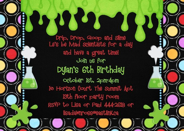 Science Party Invitations Template Free Elegant Mad Science Birthday Party Invitations Mad Science Party Science Party