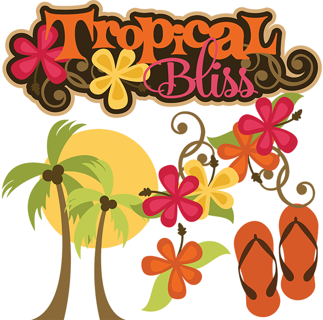 Tropical Bliss SVG Svg Vacation Beach File Flip Flop Free Svgs ClipartSummer