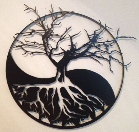 Yin Yang Tree Of Life Metal Wall Art Tattoos Pinterest
