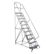 Ladders Rolling Steel Ladders Cal Osha Kit 10 12 Step Ladders 24 W Steps Grcal1012 606698 Globalindustrial Com In 2020 Rolling Ladder Ladder Perforated