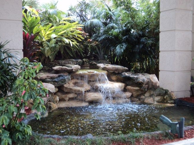 Awesome Waterfall Design Rock Pools For Small Yards Pool Fountain Pond