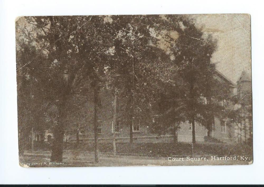 1914 Postcard Court Square Hartford Kentucky Ky For Sale On Ebay By Mosaicowl Hartford Kentucky Postcard
