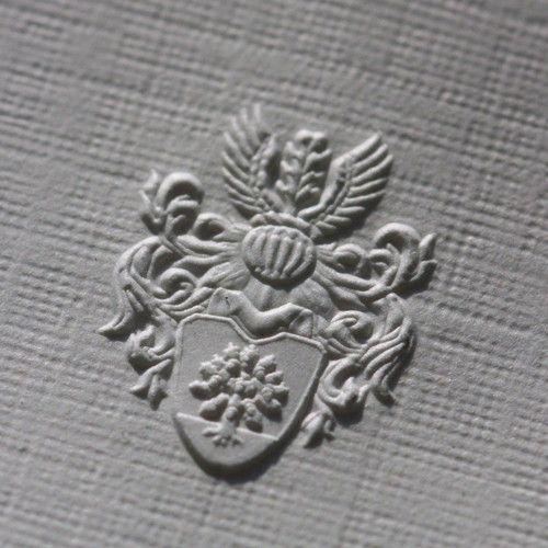 Wappen Blindprägung Prägung Heißfolienprägung Und Druckerei