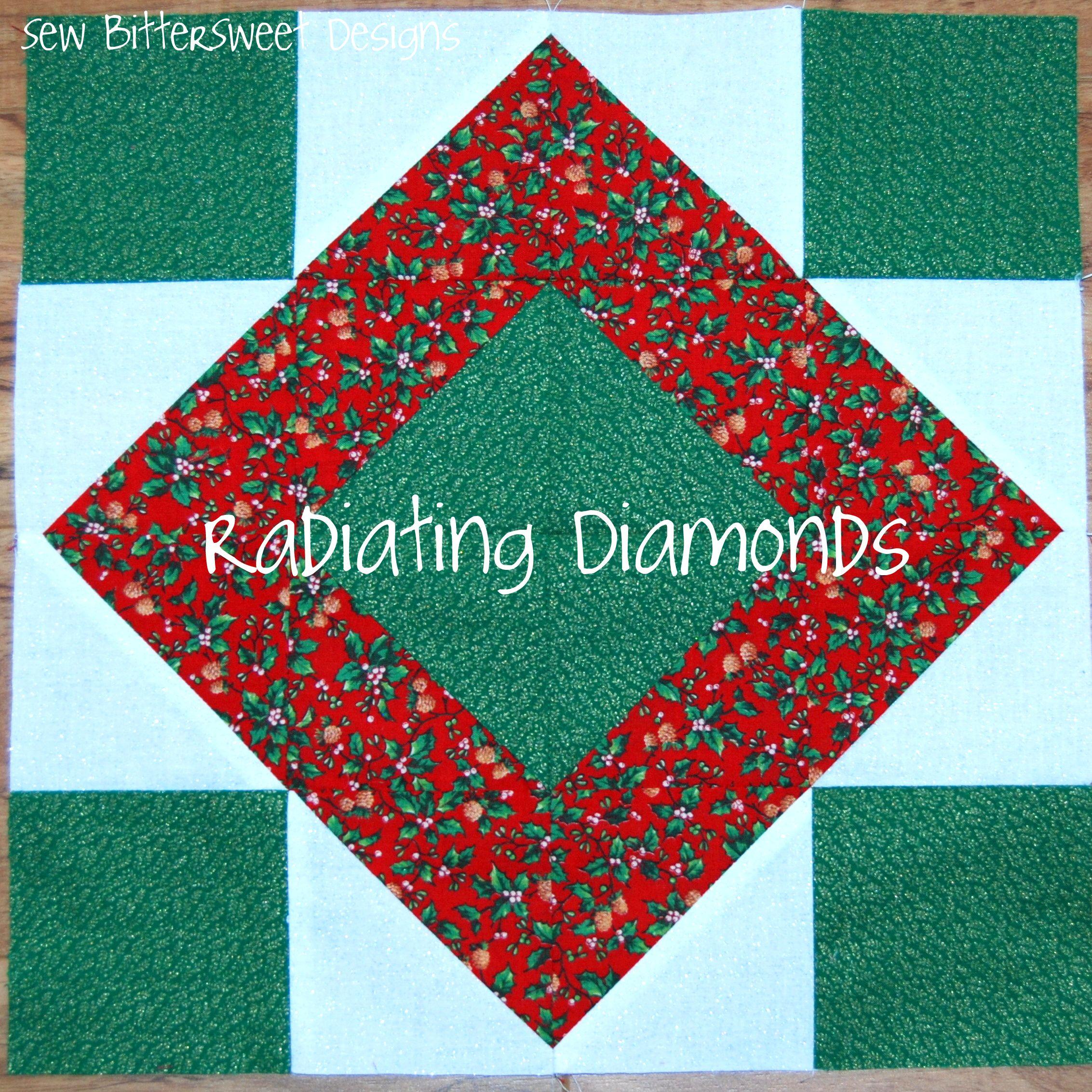 Radiating Diamonds Quilt Block Tutorial - Sew BitterSweet Designs ... : diamond quilt block pattern - Adamdwight.com
