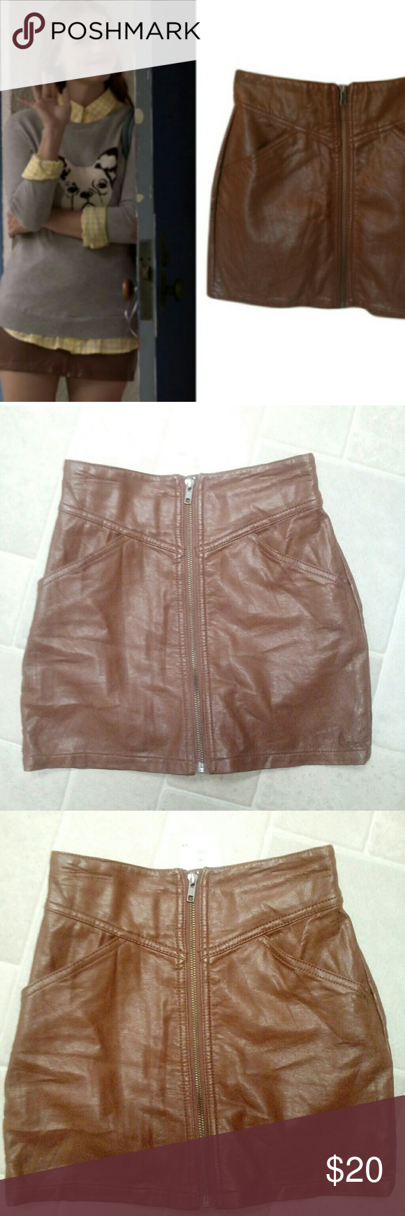 Lydia Martin H&M faux leather skirt ASO Teen Wolf The exact skirt Lydia Martin wears repeatedly in plenty of Teen Wolf episodes, including perhaps the most iconic Stydia episode featuring the red string in 3B. New with tags! H&M Skirts Mini