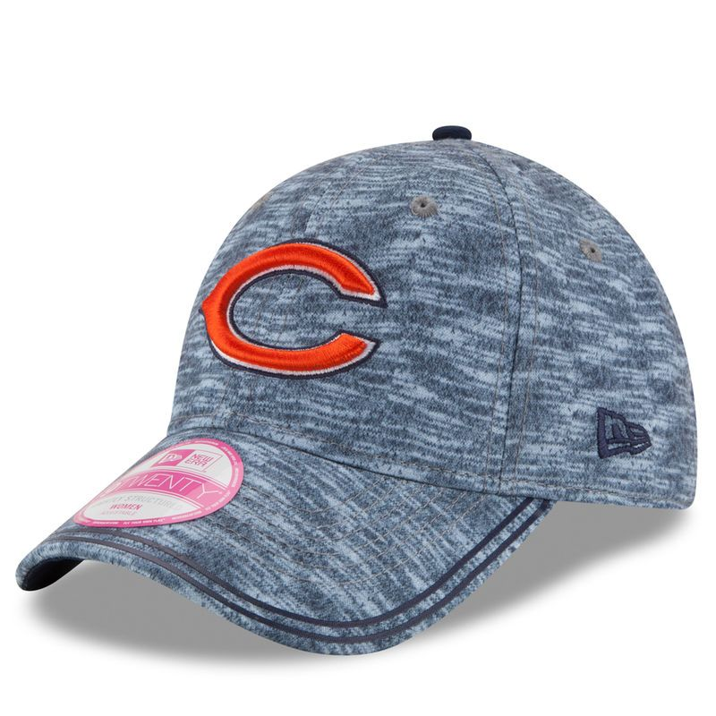 Chicago Bears New Era Women s Midnite Tech 9TWENTY Adjustable Hat -  Heathered Gray 0175f71ea