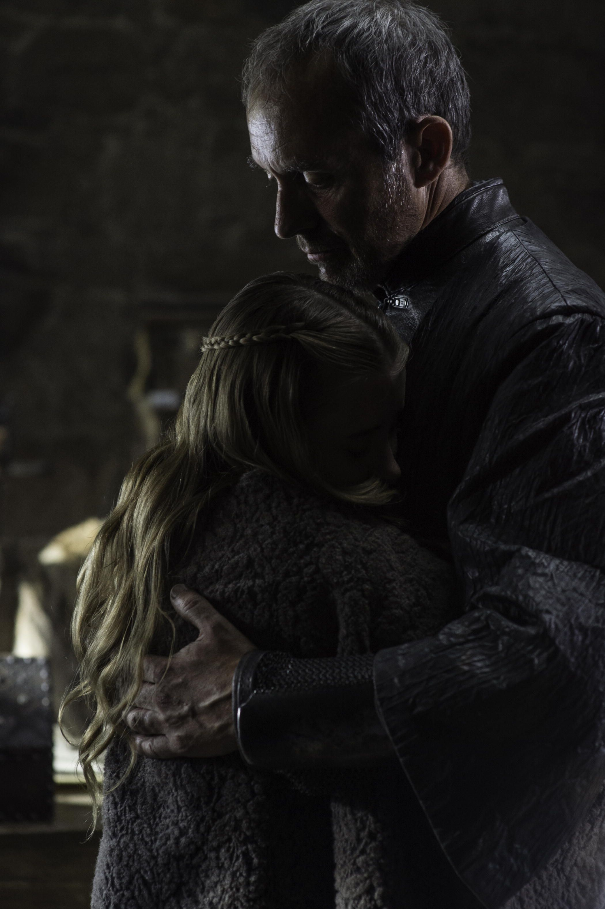 Image result for shireen baratheon and stannis baratheon\
