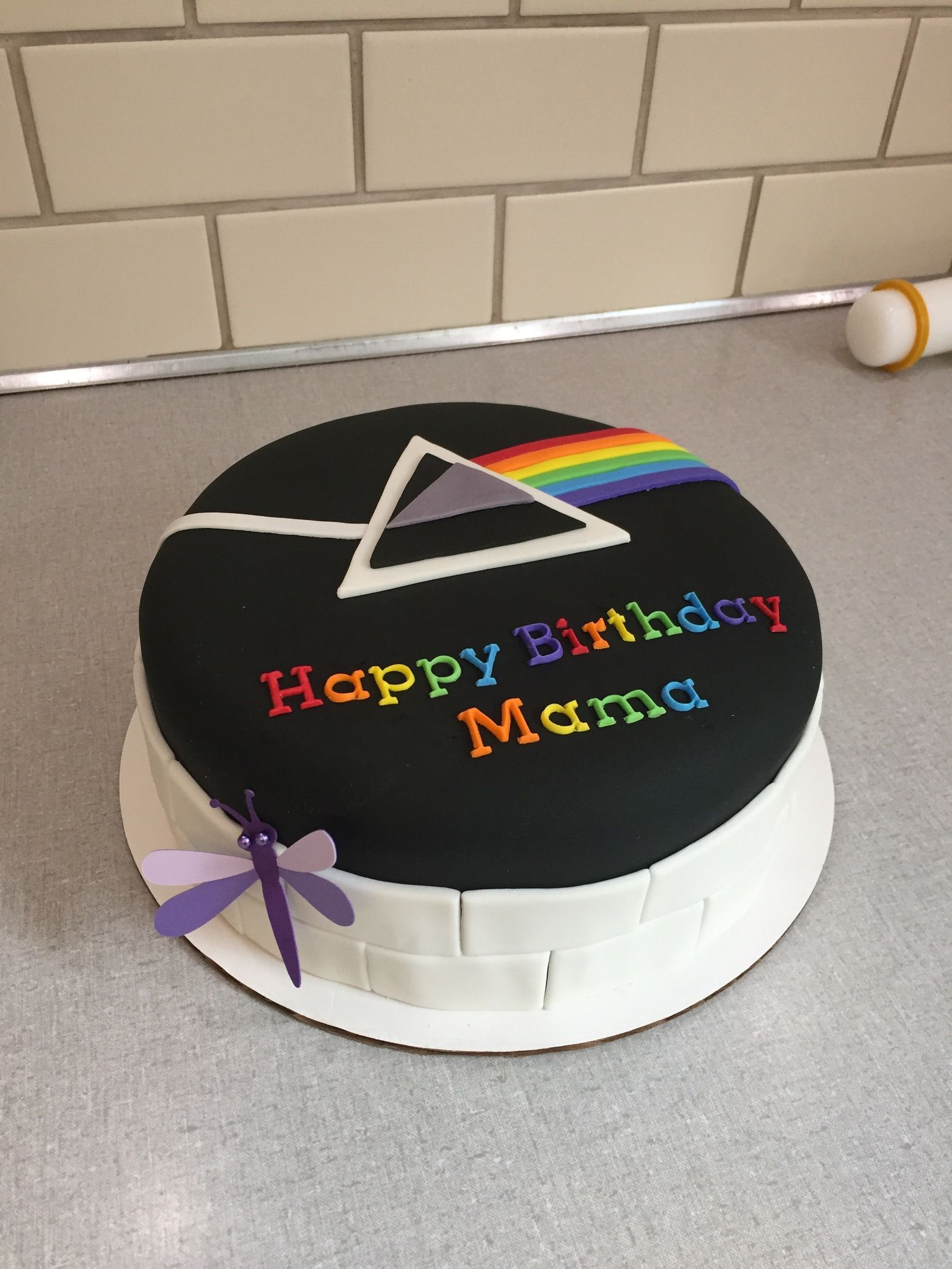 Pink Floyd Cake Dark Side Of The Moon Cake The Wall Cake Sarah S