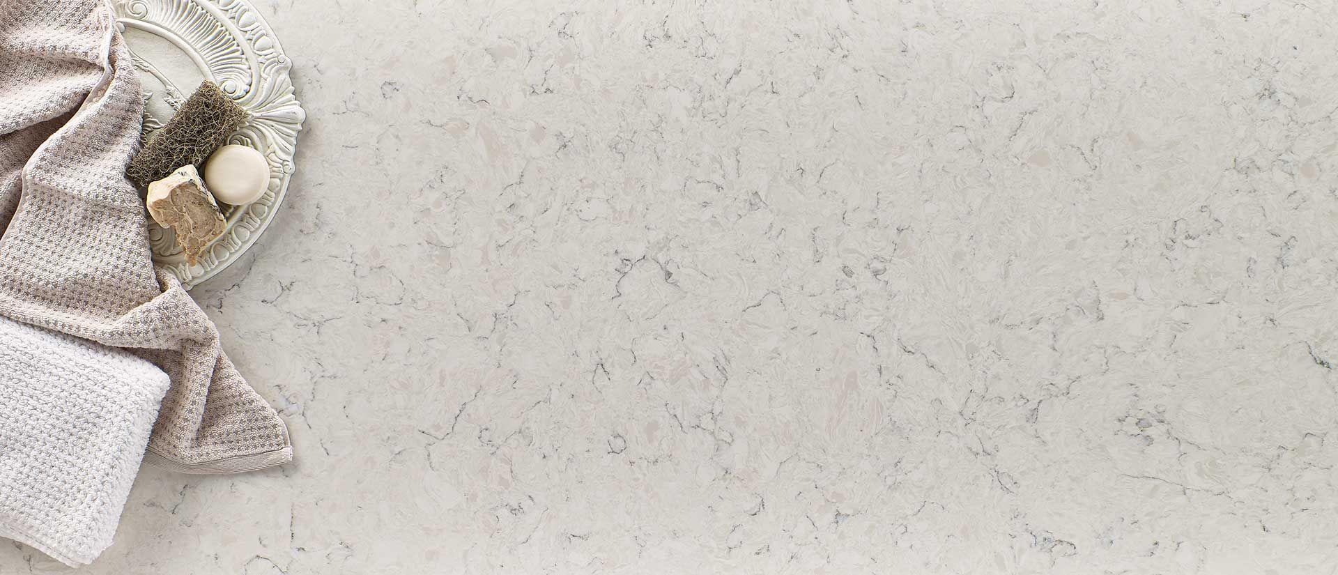 Carrara Mist Cream Quartz Countertops Q Premium Natural Quartz Quartz Countertops Carrara Quartz Kitchen Countertops