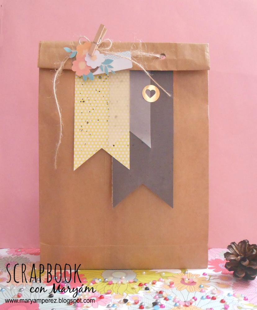 Mini Scrappers Packaging Con Maryam Bolsa Papel Craft