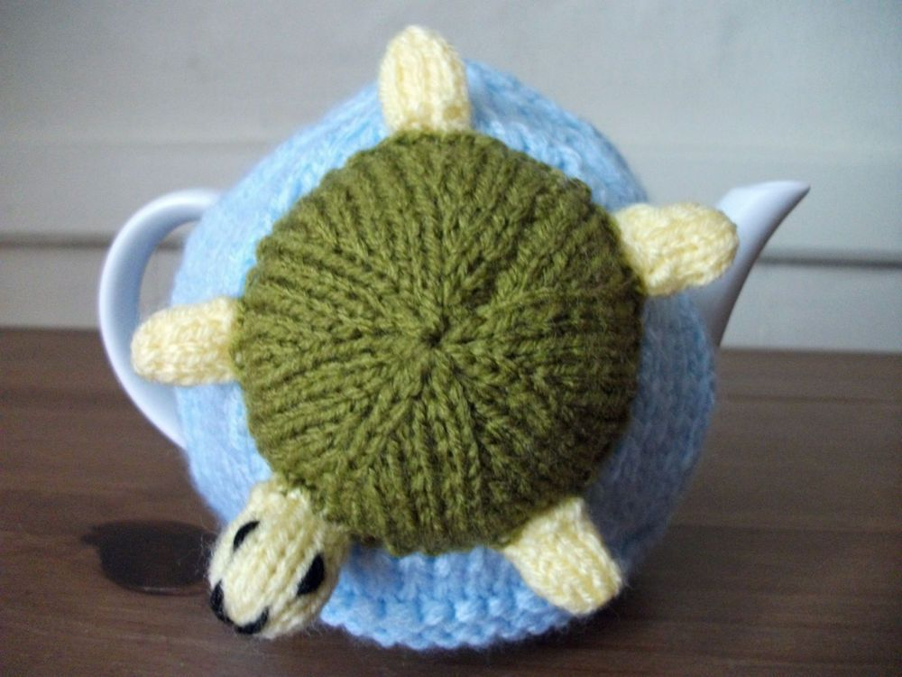 Details about Hand Knitted Sea LifeTea Cosy For A Small ...
