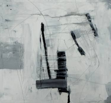 "Saatchi Art Artist Mark Fearn; Painting, ""Lines on the landscape 9"" #art  Lines on the landscape 9 Oil on deep stretched canvas drawn into with lead pencil http://www.fearnfineart.moonfruit.com http://www.saatchiart.com/markfearn"