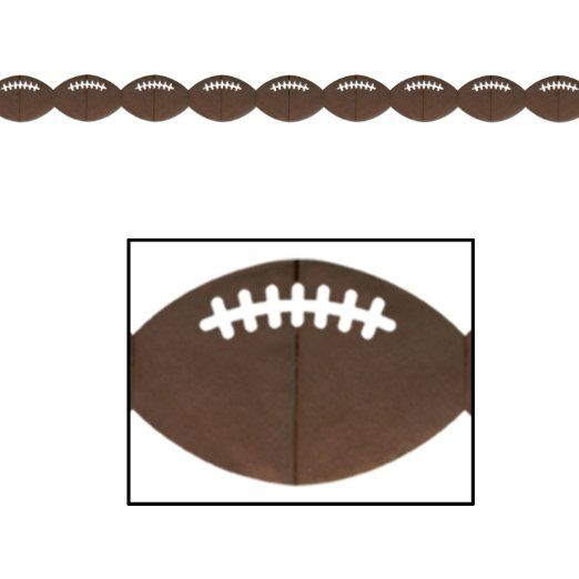 Football Garland Party Accessory (1 count) (1/Pkg)