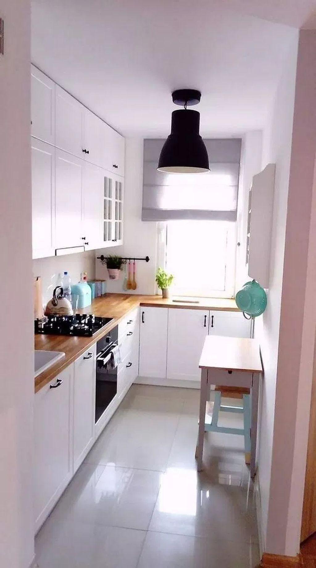 27 Easy And Simple Apartment Kitchen Design Ideas Kitchen Design Small Small Kitchen Decor Small Apartment Kitchen