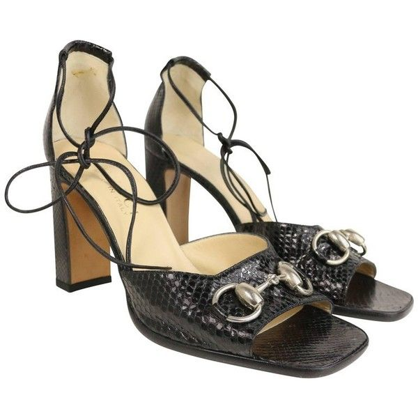 Pre-owned - Python sandals Gucci M5o9tPcIC