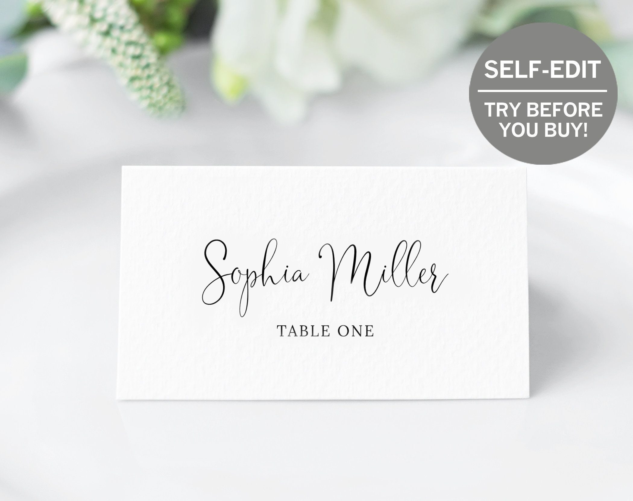 Printable Place Card Template 100 Editable Wedding Etsy Table Numbers Wedding Diy Place Card Template Wedding Place Cards