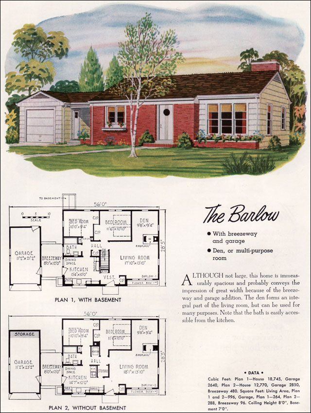 Mid century modern house plans national plan service for 1950s modern house design