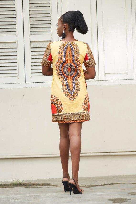Dashiki Dress African Print Dress Floral Print Dress | Etsy