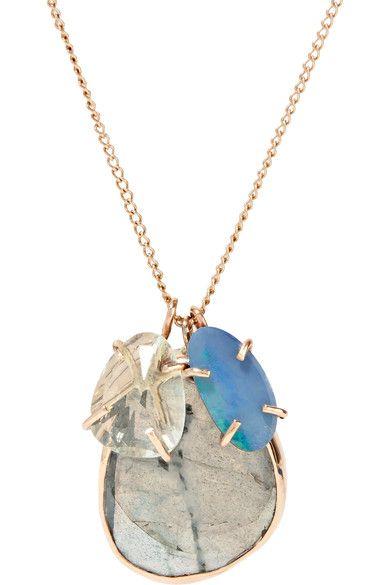 14-karat Gold Opal Necklace - one size Melissa Joy Manning 92nN6xQ3Sv