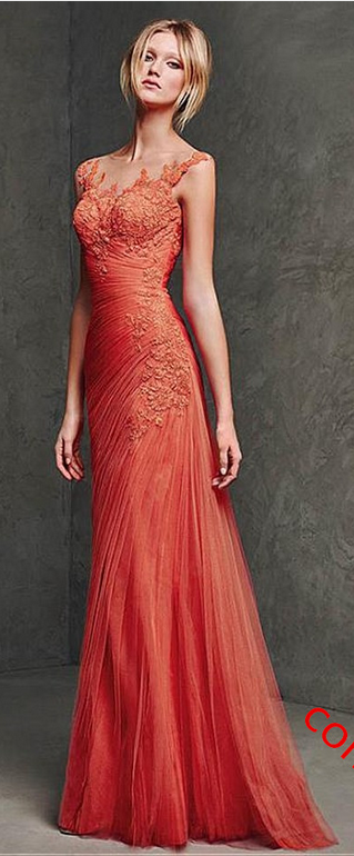 #orange #chiffon #prom #party #evening #dress #dresses #gowns #cocktaildress…