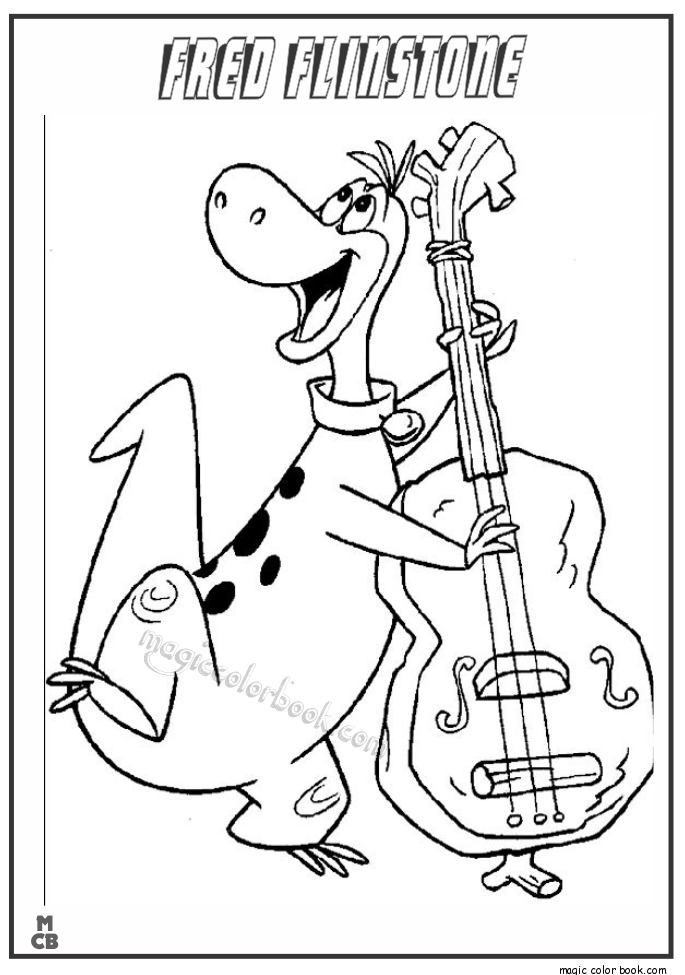 Pin by Barbara Forrester on Flintstones | Cartoon coloring pages ...