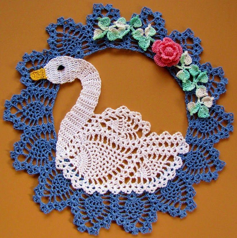 que belleza!!! | Cisne crochet | Pinterest | Belleza, Tejido y Carpeta