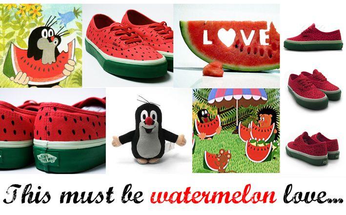 watermeloen schoenen, hoe leuk!