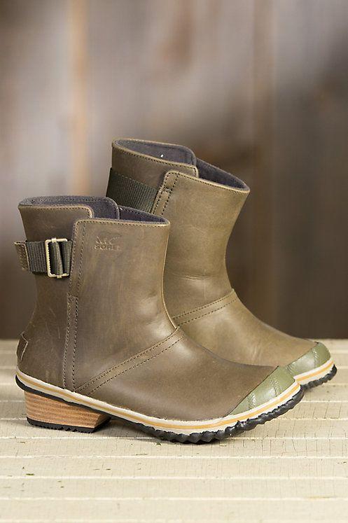 Womens Sorel Slimshortie Waterproof Leather Boots In 2020 -7521
