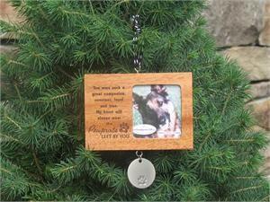 Pet Memorial Ornament - Pawprints Left by You