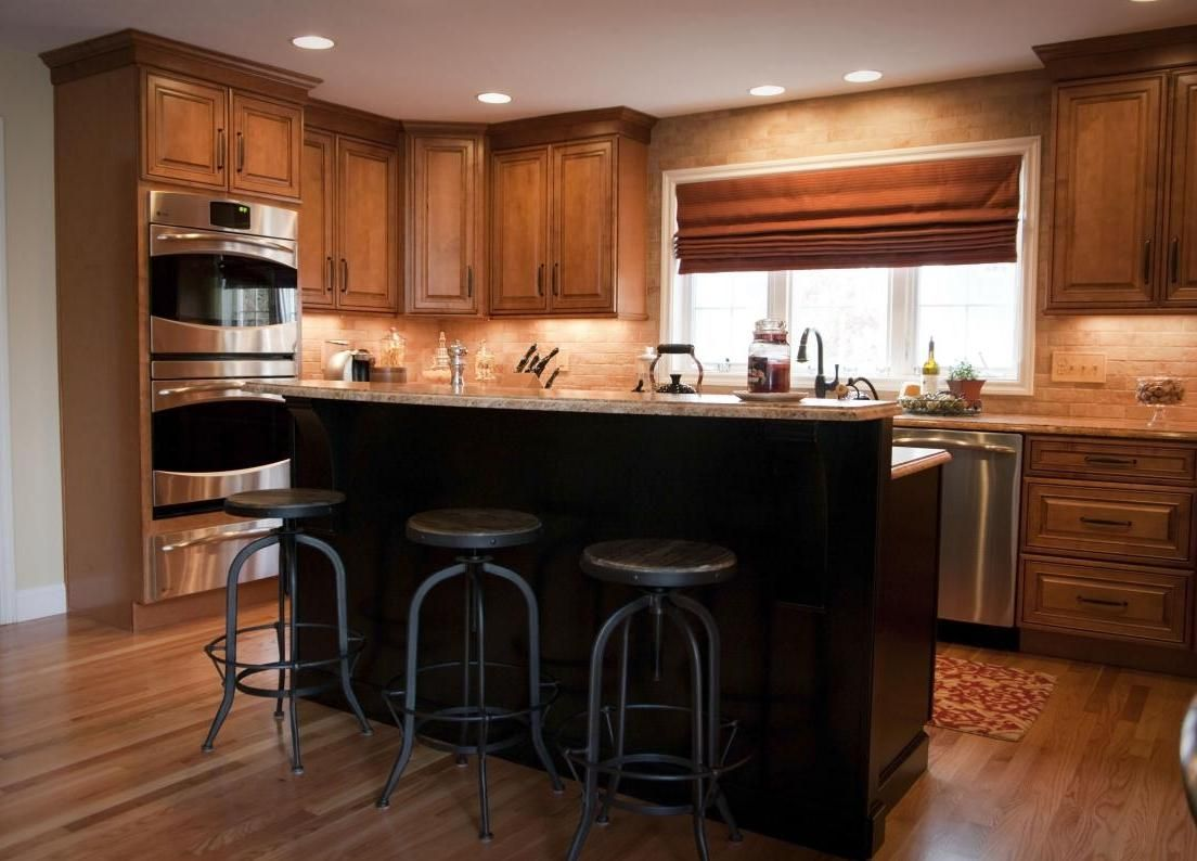 Old World Charm Here Are My Arhaus Stools Being Used In A Nh Kitchen By Rucci Design Dream Kitchen Design Llc Design