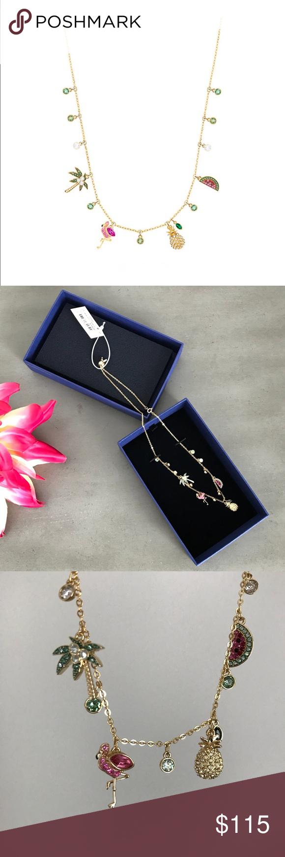 Swarovski Lime Charm Tropical Necklace | Swarovski jewelry ...