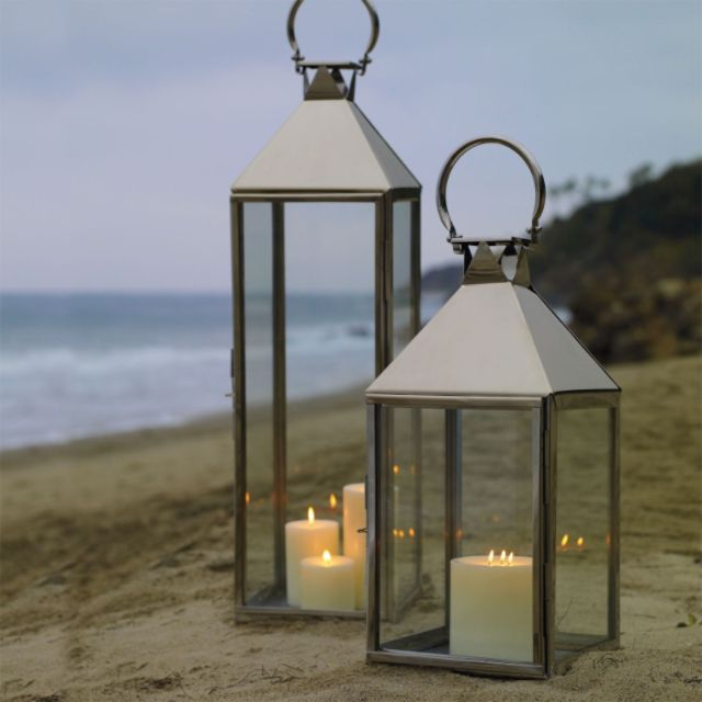 Galveston stainless steel lantern frontgate