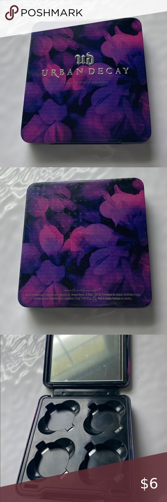 Urban Decay 4pan Empty Eyeshadow Palette Build your own