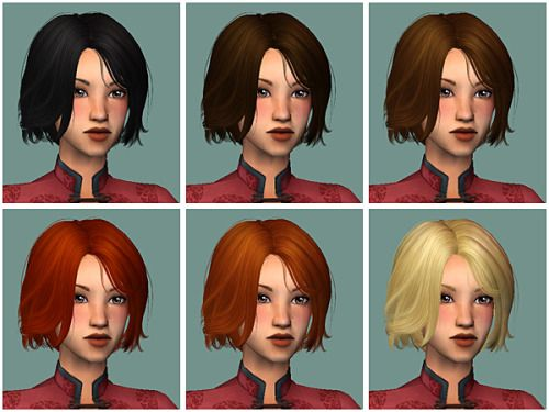 Newsea CamouflageSix Colors (Elders have gray hair)All agesMesh included (although this one is free)Isn't it an adorable short style? DOWNLOAD