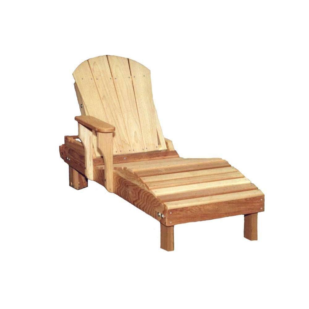 Creekvine Designs, Cedar Adirondack Chaise Lounge Chaise