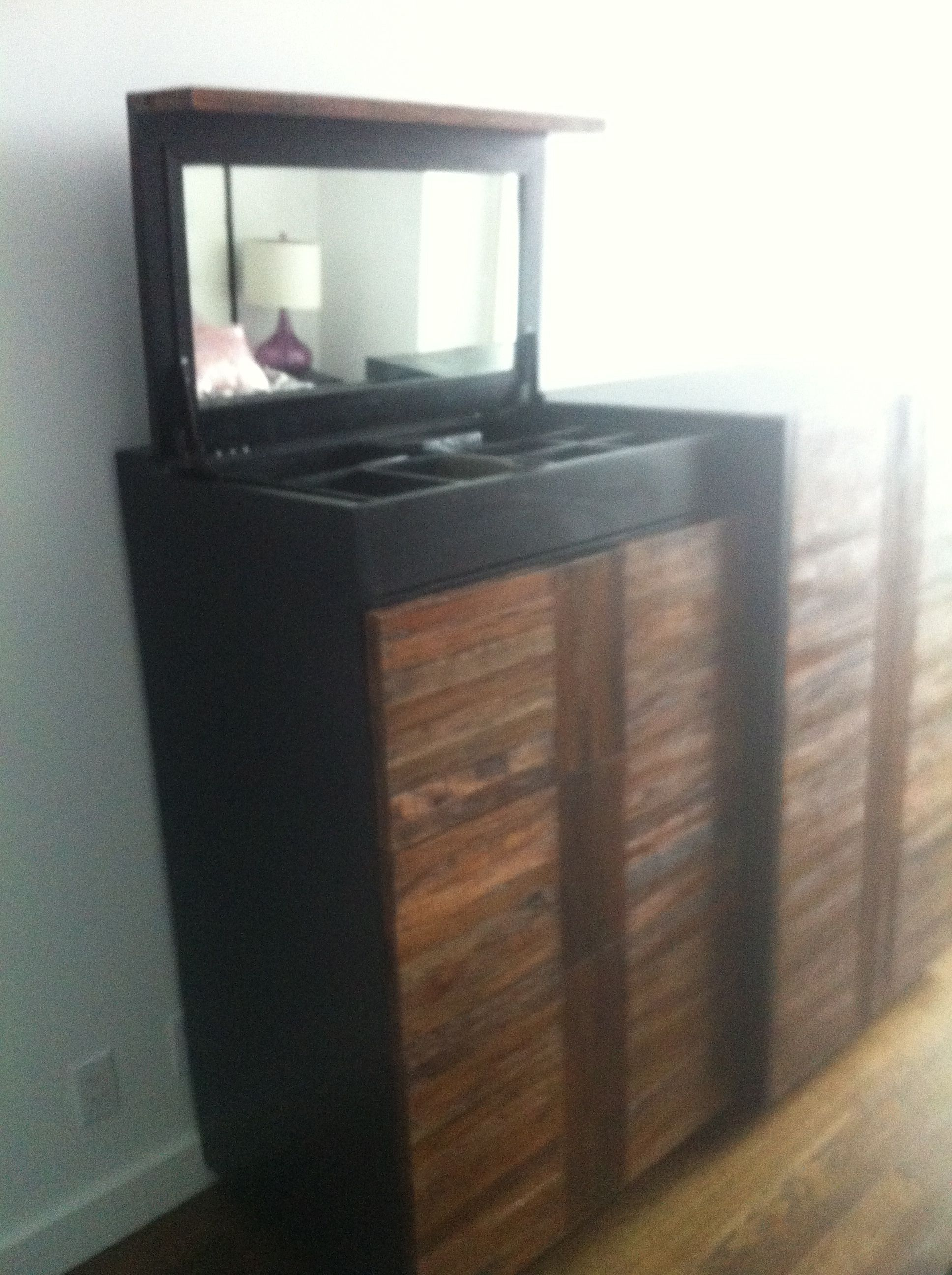 Another photo of the custom triple dresser interior