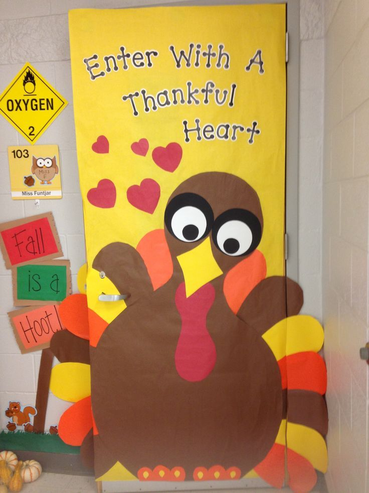 Classroom Thanksgiving Door Classroom Door Bulletin Board And