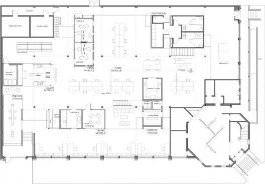 North Skylab Architecture Office Floor Plan Architectural Floor Plans Church Building Design