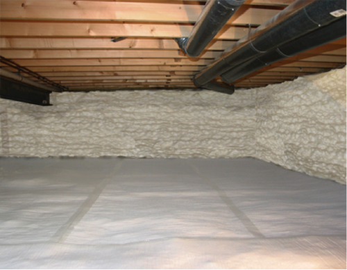 What is the best type of insulation to put into our for Concrete crawl space floor