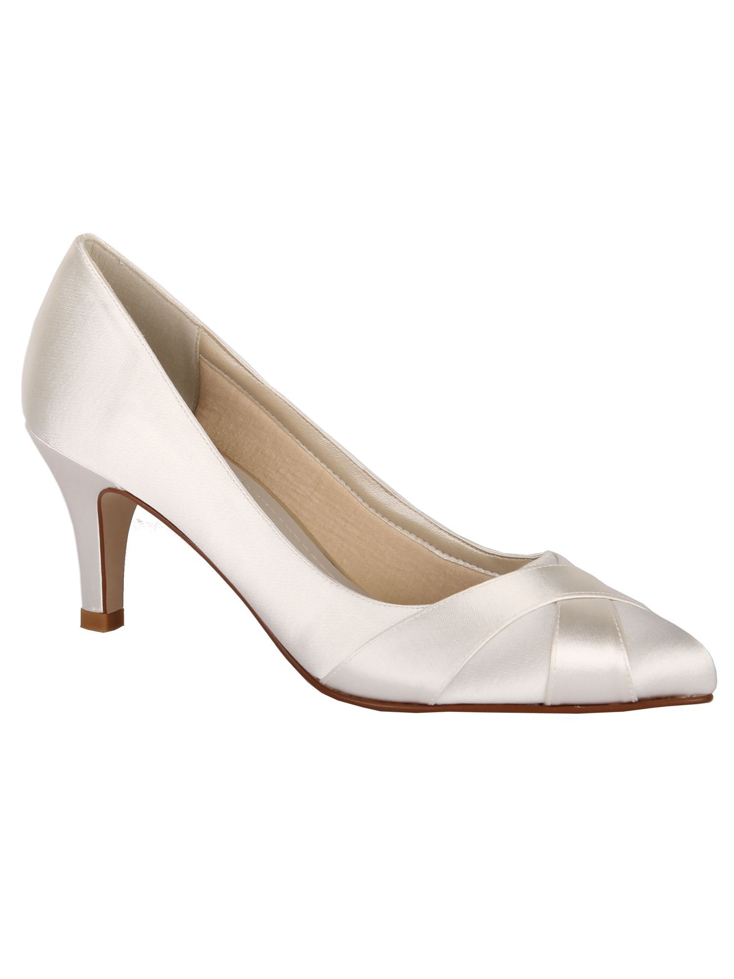 Rainbow Club Lexi crossover court shoes, Ivory