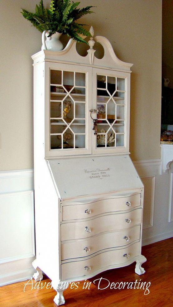 A Revamped Antique Secretary Secretary Desk Makeover Vintage Secretary Desk Painted Furniture