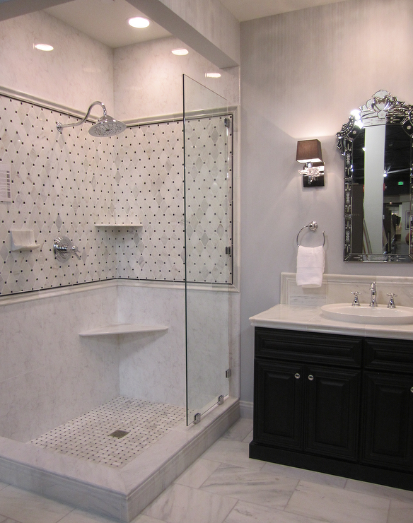 Traditional White Bathroom Designs kirsty froelich - bathrooms - tile from the tile shop, traditional