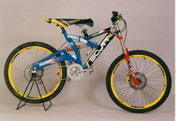1999 Scott Octane Dh Crazy Stuff Like This Was Pretty Normal In The Late Nineties Because Downhill Was So New The Thought Downhill Bike Mtb Bicycle Mtb Bike