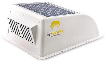 Stoett Sto Rvb100wh Rv Sunvent Solar Powered Rv Vent Cover Rv Solar Power Solar Power Charger Solar Power Diy